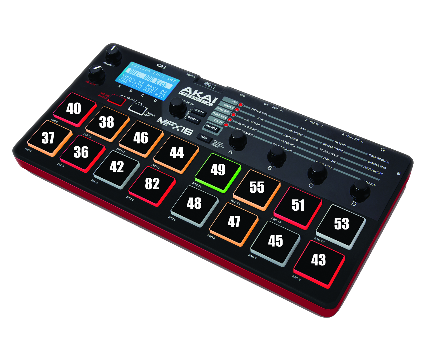 akai professional akai pro mpx16 mapping to the mpc software. Black Bedroom Furniture Sets. Home Design Ideas