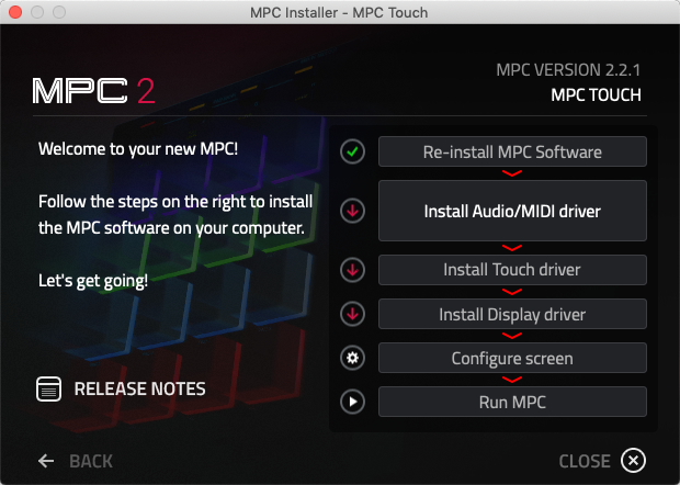 Akai Pro MPC Touch - Uninstalling and Updating MPC Touch